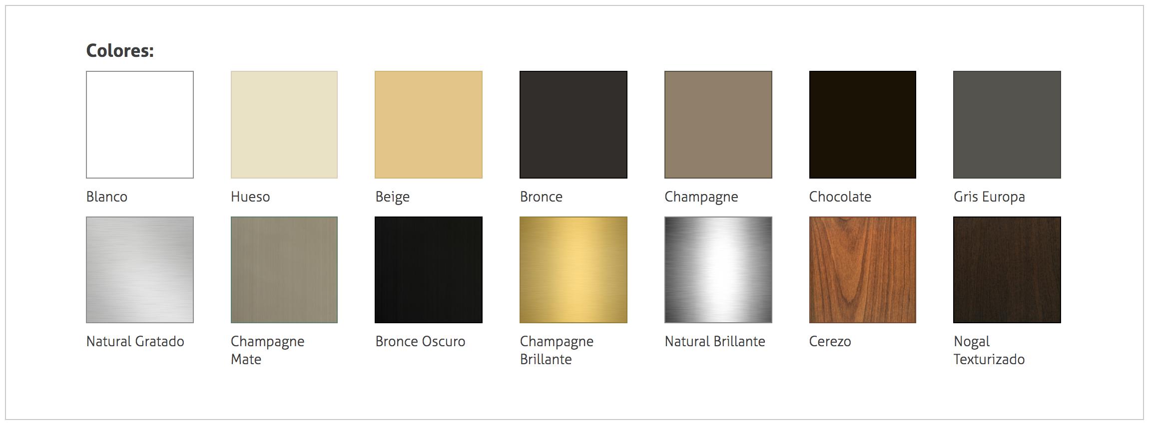 Colores y estilos en ventanas de aluminio fabricacion for Colores de aluminio para ventanas en mexico